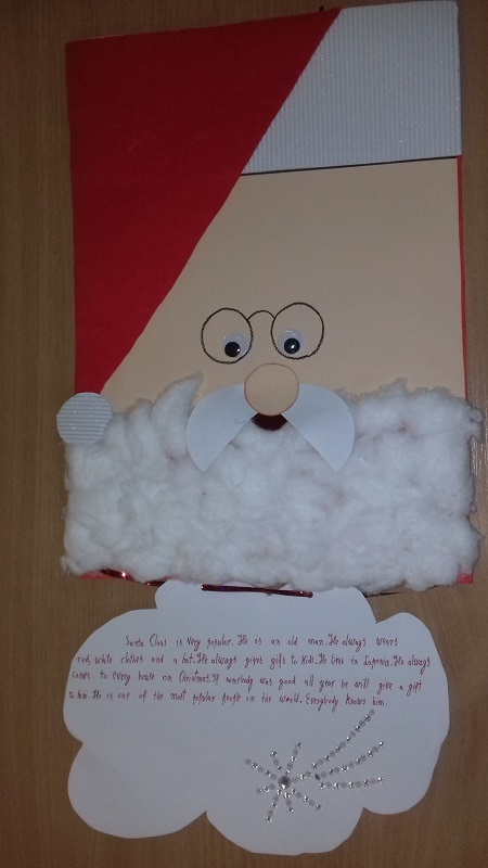 wizerunek św. Mikołaja wycięty z papieru