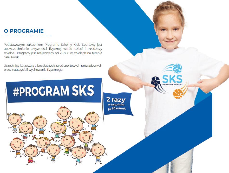 obrazek informujący o głównych założeniach programu szkolnych klubów sportowych